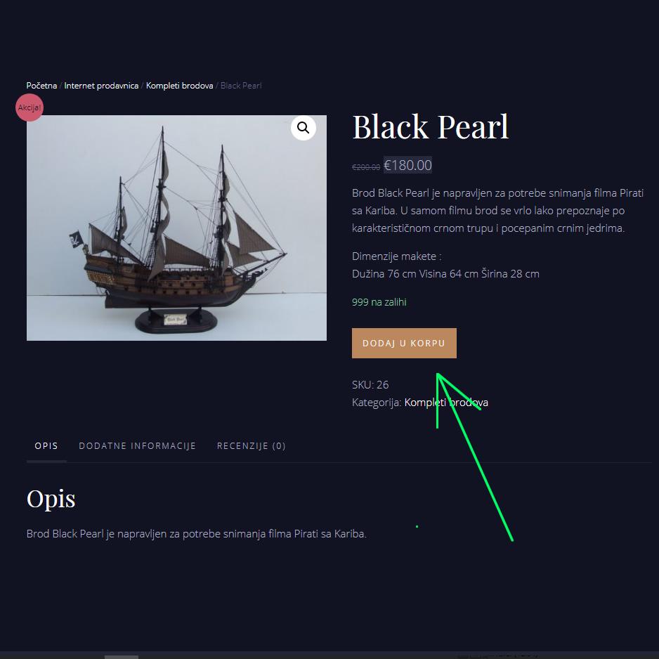 Kako mogu naručiti artikal na sajtu?